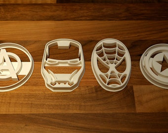 Spiderman Cookie Cutter, Iron Man Cookie Cutter, Captain America and Avengers Cookie Cutter Set