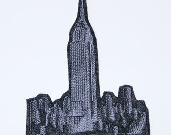 Empire State Building NYC Iron On Embroidery Patch MTCoffinz