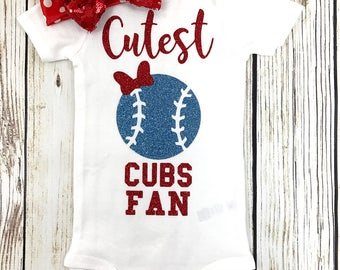 Cutest Cubs Fan Baseball Outfit For Baby Girl