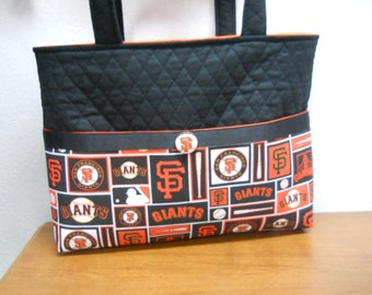 San Francisco Giants Tote Bag /  Giants Diaper Bag / Monogram / Embroidery INCLUDED / SF Giants Bag / Baseball Tote BAg