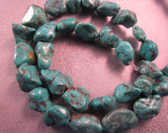 Turquoise Nuggets Beads 33pcs