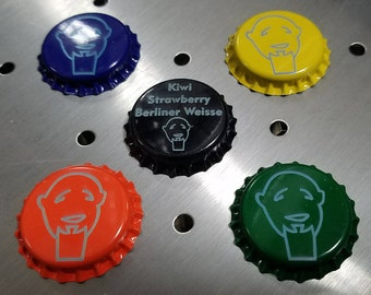 Custom Laser Etched Bottle Caps for Homebrewing - Homebrewer Customized Lids - Personalized Homebrew Gear - Order on Brew Day - Small Batch