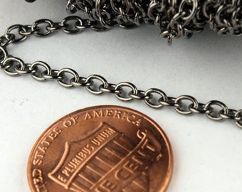 32 ft. of Gunmetal Finished SOLDERED Cable Chain - 3.2x2.8mm SOLDERED LInk