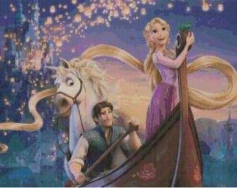 Disney's Tangled Cross Stitch Pattern