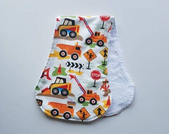 Burp Cloth, Baby Boy, Newborn Gift, Baby Shower Gift, Baby, Baby Burp Cloths, Burp Rag, Baby Gift, Burp Cloths, Baby Shower, Trucks, Diggers