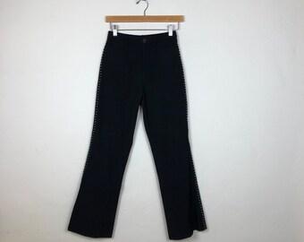 90s Flared Pants Size Small, Selena Pants, Sequin Pants, Jeweled Pants, Rhinestone Pants