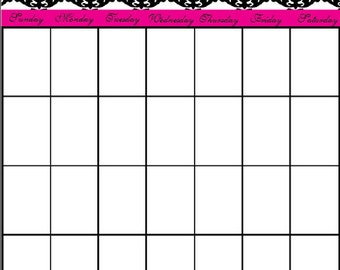 Monthly Calendar / Editable Calendar / Calendar Planner / Calendar / PDF Calendar