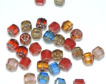 6 mm Fire Polished Cathedral Beads Assorted Colors (30)