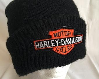 Vintage Harley Davidson beanie hat-HOG-biker-easy rider