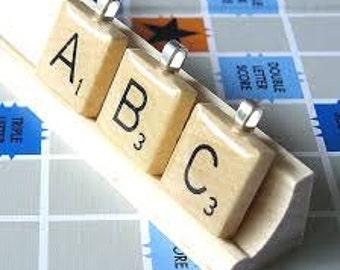 Choose your letter for the Scrabble tile pendants
