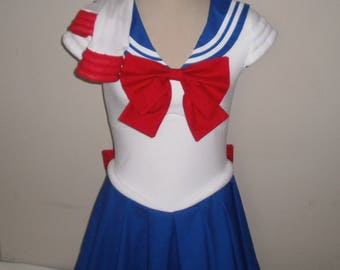 Sailor Moon Cosplay Dress and Gloves - Sailor Senshi Costume - Any Size Any Color Sailor Scout - Sailor Moon, Sailor Jupiter, Sailor Mars...