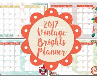 2017 Monthly Planner Insert Printable