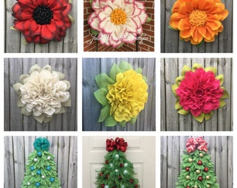 Video Tutorials, Apple Blossom Tutorial, Marigold Tutorial, Christmas Tree Tutorial, DIY Wreaths, Handmade Wreath, Front Door Decor, DIY