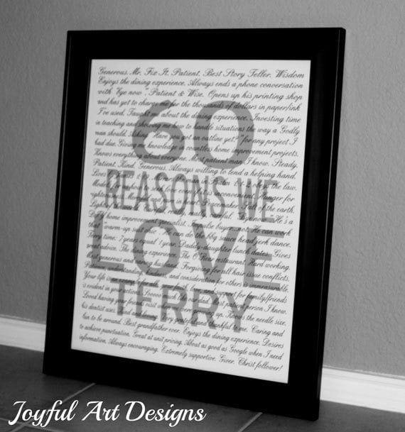 Reasons i love you printable wall art mothers day gift