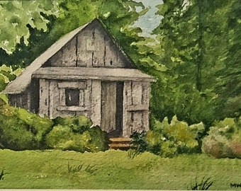 Garden Shed blank greeting card