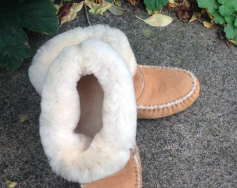 Authentic native sheepskin mocassin