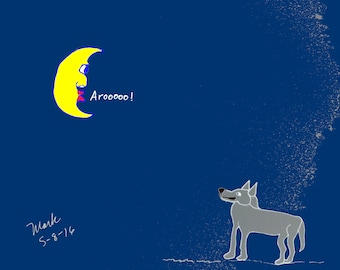 Howling at the Wolf, print, on the shop Chiselwit