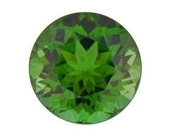 Natural Genuine Green Tourmaline Round Loose Gemstones(1.25mm - 5mm)