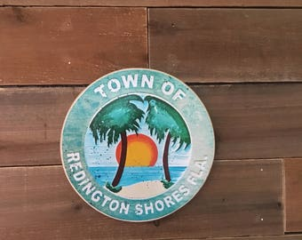 Town of Redington Shores Sign - Photo on Wood