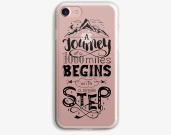 A Journey of a 1000 Miles Begins with a Single Step iPhone 6 Plus Case iPhone 7 Case iPhone 6 Plus Case Clear iPhone 6 Case Black or White