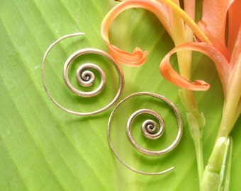 Thailand Silver  Earrings - The Spiral Sunshine Bloom(16)