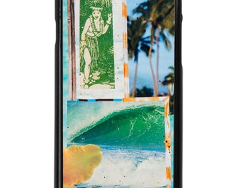 NEW iPhone 7/7+ Case, HULA WAVE, Hawaii, Aloha, Beach, Palms, Orchid, Hula Girl, Wave, Tropical, Art, Avail. with Black or White case color