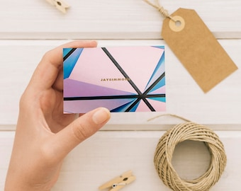Pink & Blue Tones  Business Card