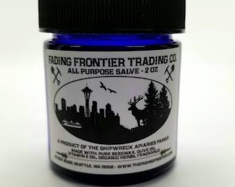 Fading Frontier All Purpose Salve, Pure Beeswax Salve, Shipwreck Apiaries Salve, Shipwreck Honey Salve
