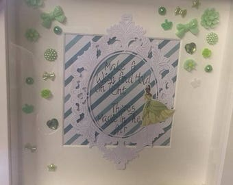 The Princess and the Frog quote frame