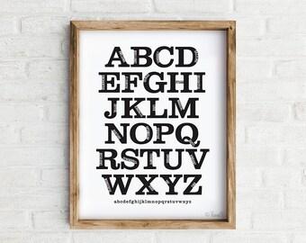Alphabet Art Print, the ABC's of Inspiration wall art