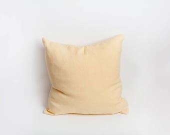 Yellow Linen Pillow Cover, Yellow, Linen Pillow Cover, Pillow Cover, Linen Pillow, Butter Yellow, Yellow Decor, Pastel Yellow, Yellow Pillow