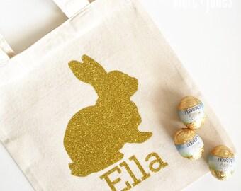 Personalised Easter Egg Hunt Basket Bags