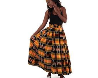 Africa Kente Long Skirt #3