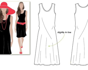 Cruise Club Kim Dress - Sizes 10, 12, 14 - Fabulous all occasion dress PDF Dress Pattern by Style Arc - Instant Download - Sewing Project