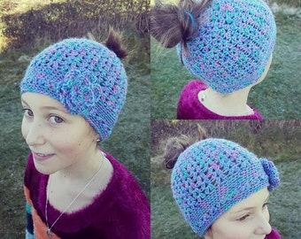 Crochet Child's Bun Hat