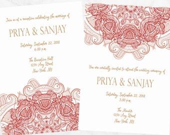Nikah Wedding Invitation - Muslim Wedding Invitation - Nikkah Invitation - Henna Wedding Invitation - Digital Nikah Invitation
