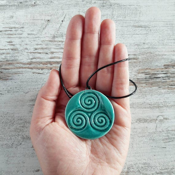 Ceramic raku pendants with celtic symbols spiritual like this item aloadofball Choice Image