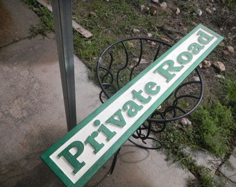 Carved, Custom Designed, Wooden, Cedar, Signs. Directional, Private, Control, Reflective, Durable, UV Finish,