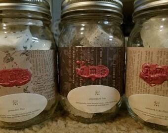 1 Custom 8 oz Jar Handmade Bath Fizzies