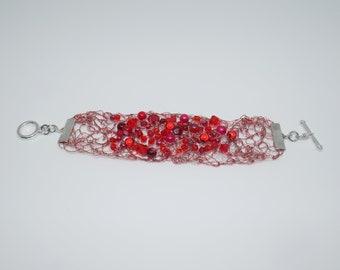 Bracelet Galaxie·Rouge, Collection Carole Massicotte