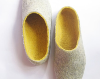 House Slippers Mens Slippers Eco Clothing, House Shoes Warm Slippers, Woolen Shoes Fresh Feet Slippers Organic Gray, Wife To Husband Gift