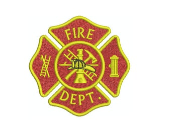 Machine Embroidery Design Instant Download - Fire Department Fire Fighter Insignia First Responder