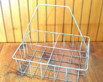 Vintage Wire Tote Basket