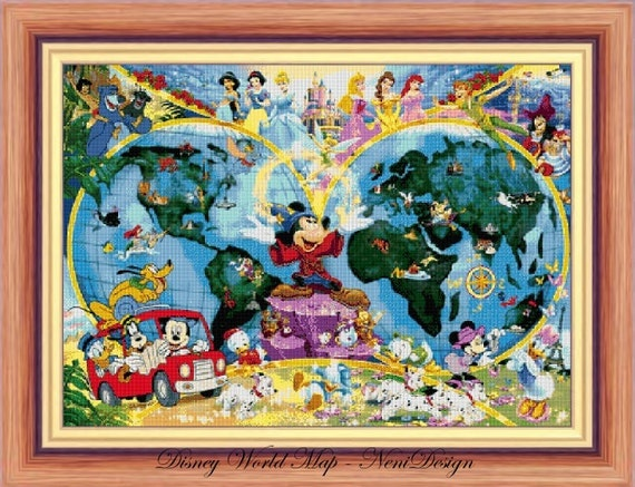 Disney heroes 22 disney world map cross stitch disney cross disney heroes 22 disney world map cross stitch disney cross stitch mickey mickey cross stitch pattern pdf pattern instant download from gumiabroncs Image collections