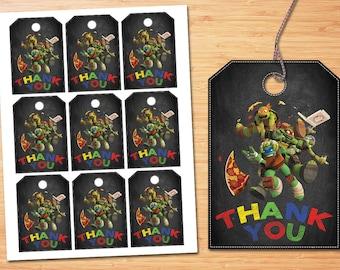Teenage Mutant Ninja Turtles Thank you or Favor tags