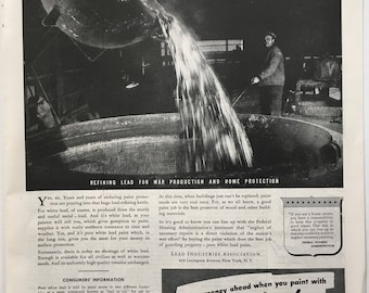 1943 Lead Paint ad in Saturday Evening Post
