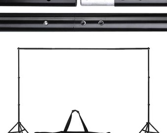Telescoping Background Stand System-- Holds Photo Backdrops, Any Style #9811