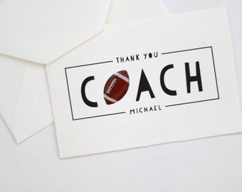 Thank You Coach Card / football coach card / thank you football card / football card / coaching card / thank you coach card / LARGE CARD