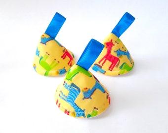 Yellow Horse Pee Pee TeePee x 3 // Sprinkling Wee Wee Wigwam // Baby Shower, Gift Idea. Newborn Boy.