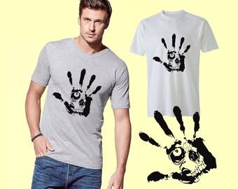 Scull Hand T-Shirt Men's Shirt